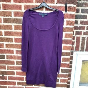 French Connection Purple Sweater Knit Dress